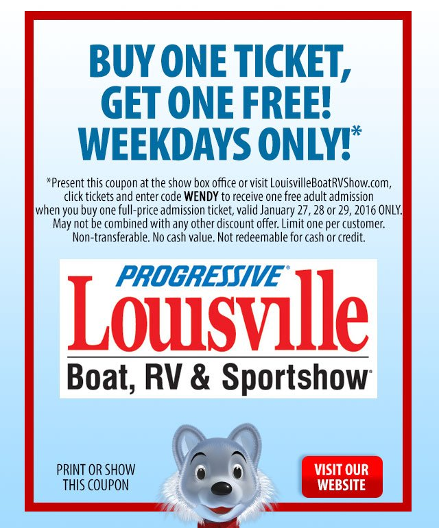 Louisville Boat Show Coupon
