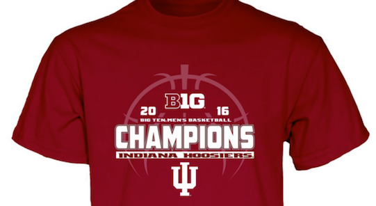 Indiana beat Iowa to win the outright Big Ten title Tuesday.