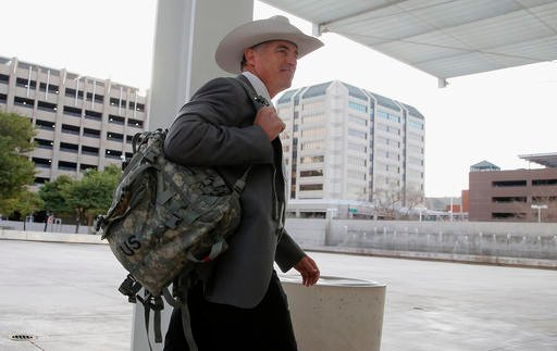 (AP Photo/Ross D. Franklin, File). FILE - In this Jan. 28, 2016, file photo, Texas Ranger Nick Hanna, who was involved in the case against Warren Jeffs on the Fundamentalist Church of Jesus Christ of Latter Day Saints sect compound near San Angelo, Tex...
