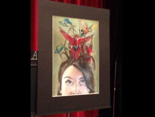 "Raquel Masterson's artwork, entitled ""Fly Aways"" (Photo by Toni Konz, WDRB News)"