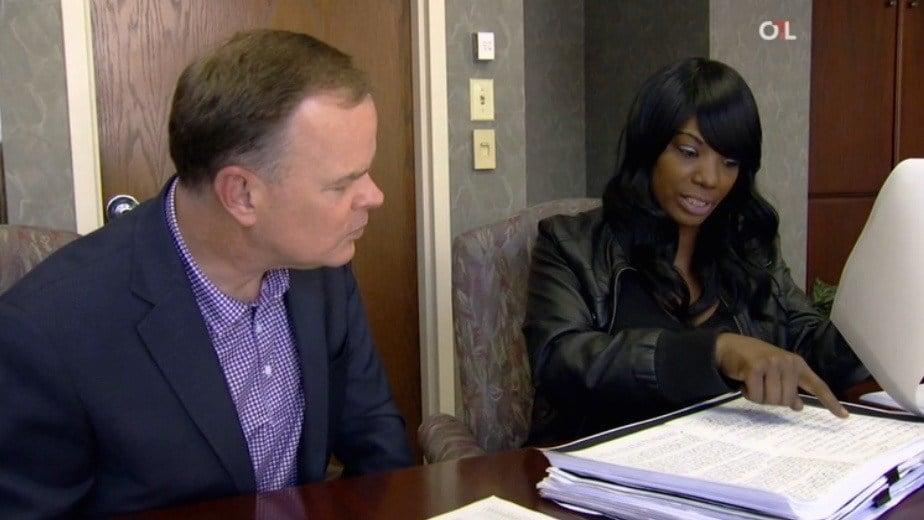 John Barr of ESPN interviewed Katina Powell Tuesday at the Seelbach Hotel.