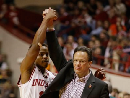 Yogi Ferrell (left) and Tom Crean were honored by the US Basketball Writers.