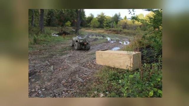A photo released in court documents of the box found by ATV riders.