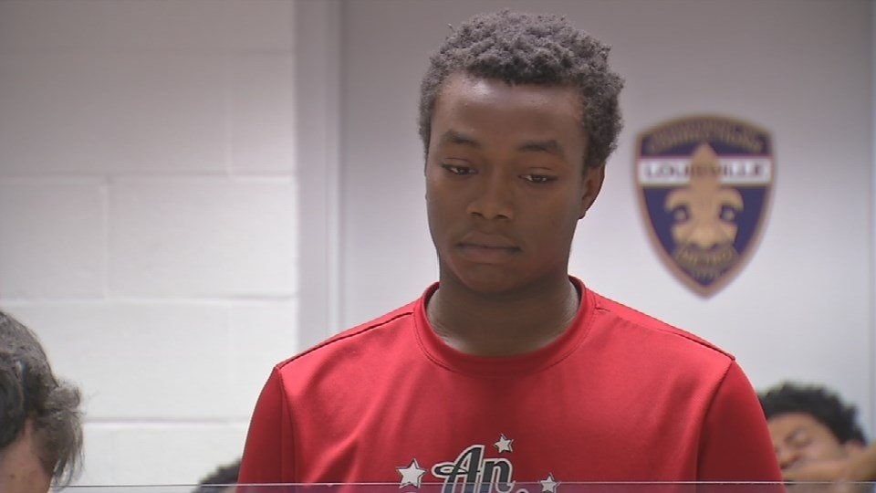Henry Perkins, age 18, is charged with assault in connection with the incident at Jeffersontown High School.