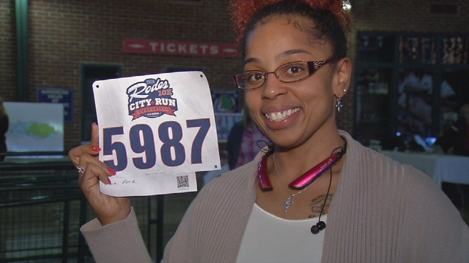 Asia Ford poses with her number for this year's race.