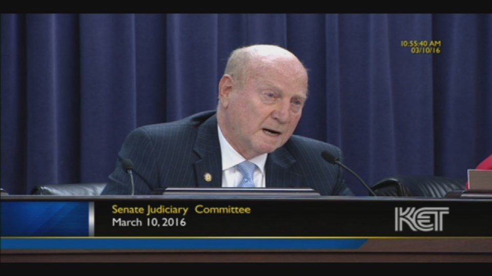State Senator Dan Seum made the comments during a committee hearing in Frankfort, which was recorded by KET (Image courtesy: KET).