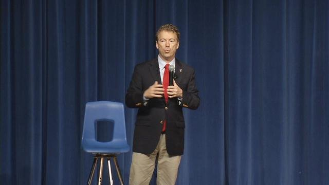 U.S. Senator Rand Paul hosted a town hall meeting with students at Valley High School March 14, 2016.