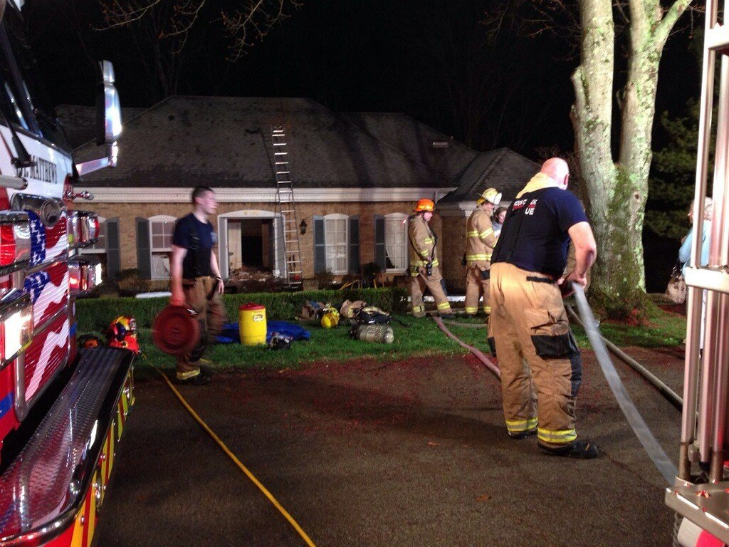 Crews on the scene of a fire Tuesdayon Gunpowder Lane close to Hunting Creek Country Club.