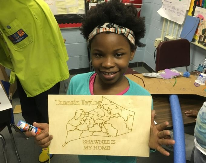 Atkinson Elementary student Tanasia Taylor (Phot by Toni Konz, WDRB News)