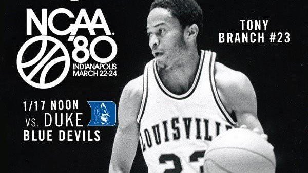 University of Louisville promotional photo for last season's reunion of the 1980 NCAA championship team.