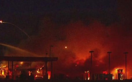 The cause of a massive fire at the Flying J truck stop in Indianapolis remains under investigation.