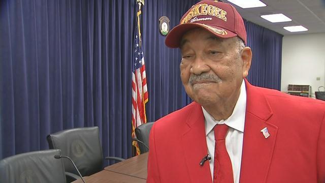 Frank Weaver, member of the Tuskegee Airmen