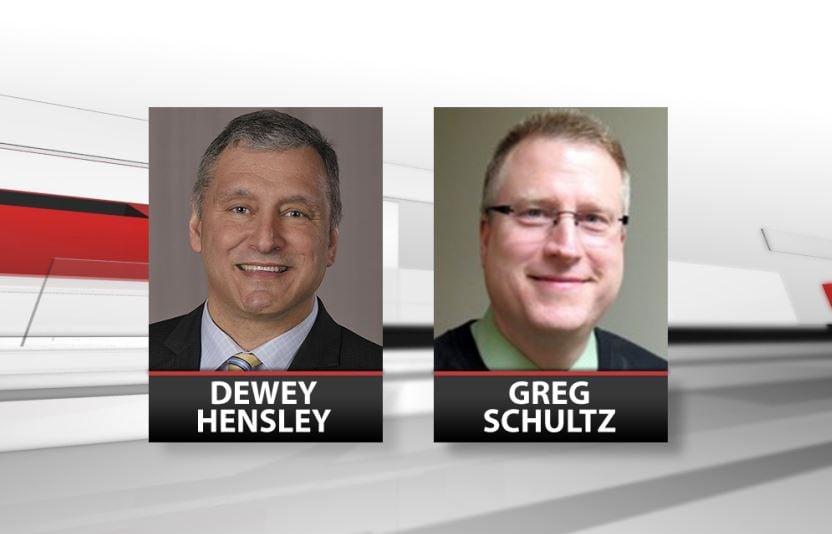 Oldham County Public Schools superintendent finalists Dewey Hensley and Greg Schultz
