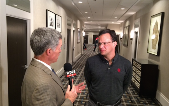 Indiana basketball coach Tom Crean talked to WDRB sports director Tom Lane in Philadelphia Wednesday night.