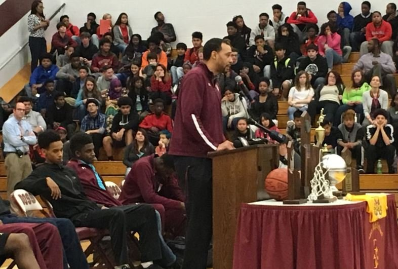 """They picked us seventh in the region, they said we couldn't get back to the state tournament again,"" Tony Williams told the Doss crowd on Tuesday."