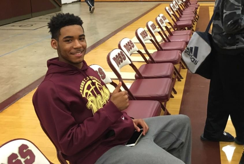 Doss High senior LaRon Hargrove -- has accepted a full academic and athletic scholarship and will attend Georgetown College this fall (Photo by Toni Konz, WDRB News)