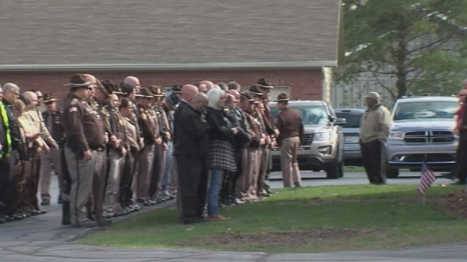 Hundreds of people attended the funeral of Deputy Carl Koontz on March 29, 2016.