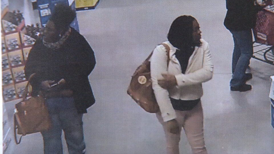 Surveillance video from Beverage Warehouse shows some of Mark Sneed's alleged accomplices.