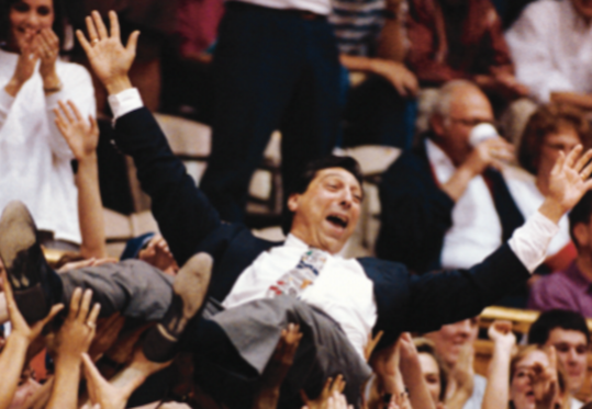Jimmy Valvano and N.C. State won the 1983 Final Four in a basketball gym.