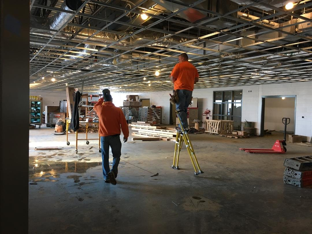 The cafeteria inside Norton Commons Elementary School (Photo by Toni Konz, WDRB News)