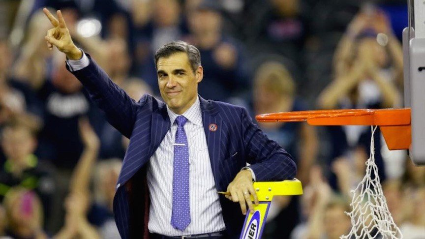 Villanova's Jay Wright completed his GQ wardrobe with an NCAA championship ring.