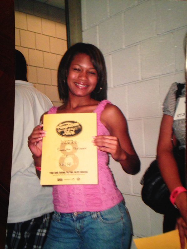 Samantha Chatman holds up her golden ticket after competing in Louisville