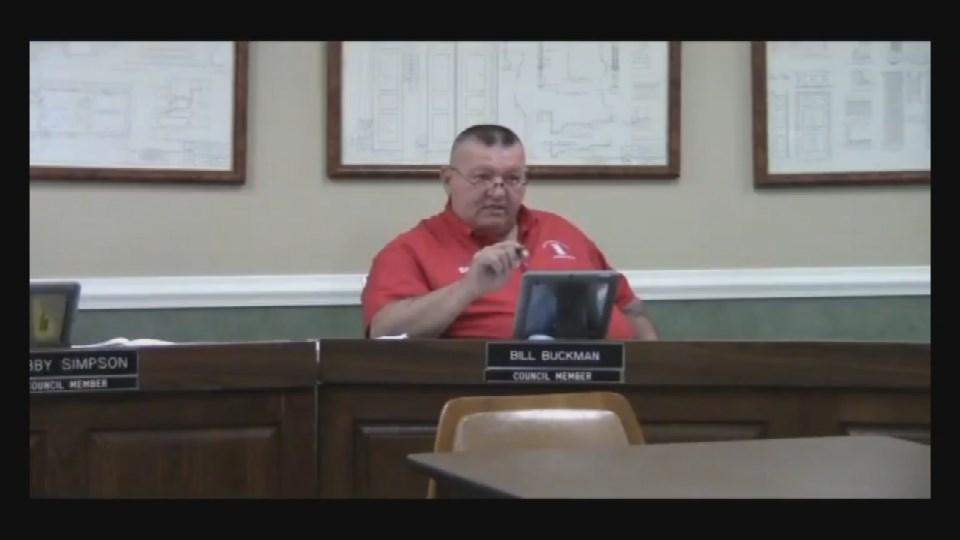 Bardstown Councilman Bill Buckman at Tuesday night's meeting