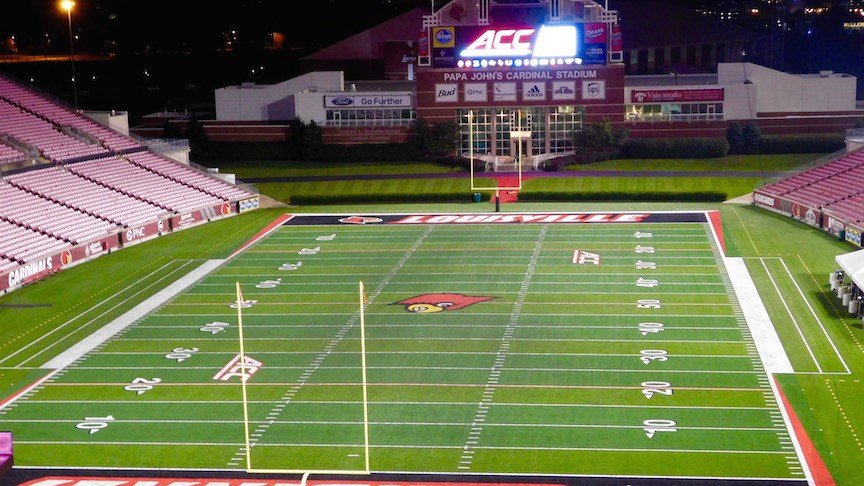 The North end zone of Papa John's Cardinal Stadium may be seeing an expansion project sooner than expected. (WDRB photo by Eric Crawford)
