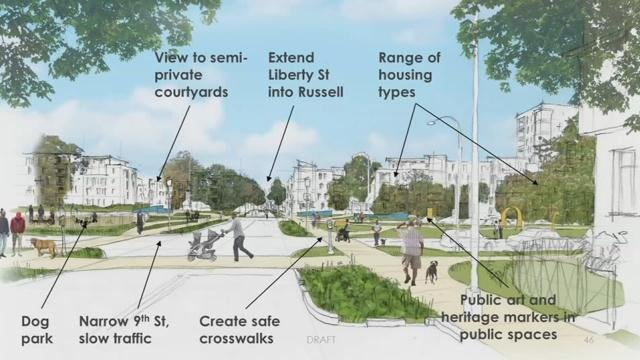 This rendering depicts how the Russell neighborhood might look after a multi-million dollar revitalization project is complete.