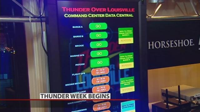 The Thunder Command Center opens at the Galt House Monday.
