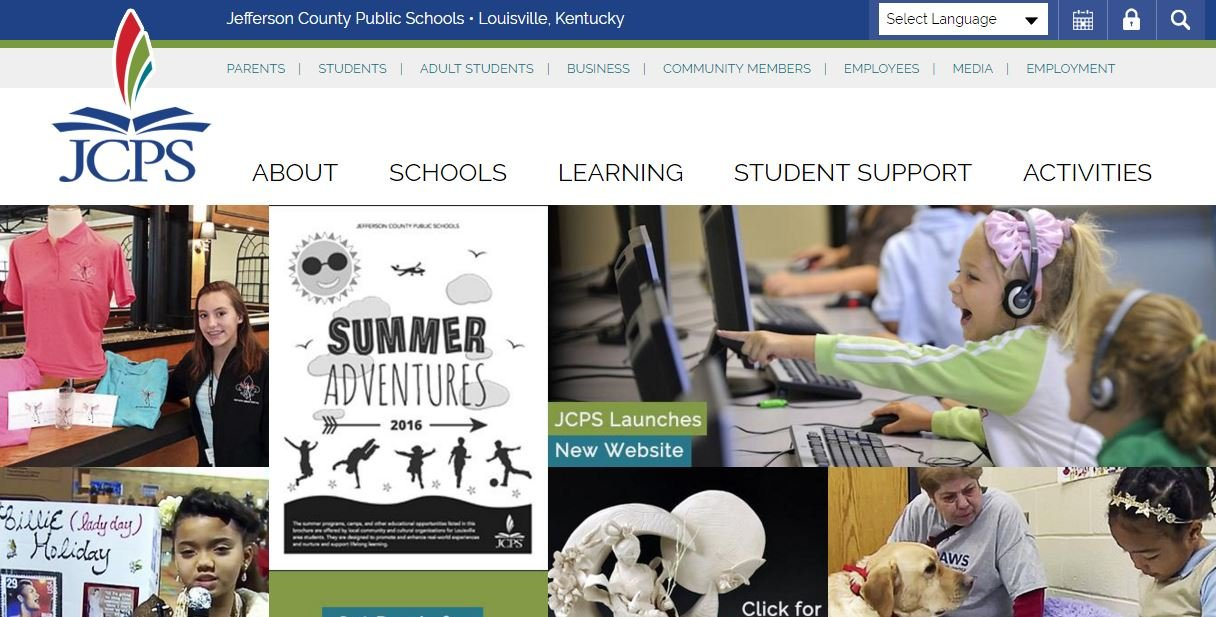 JCPS launched its new website on April 19, 2016.