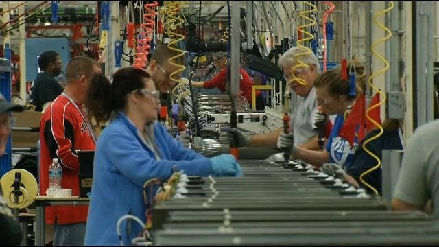 Workers at GE Appliance Park in Louisville