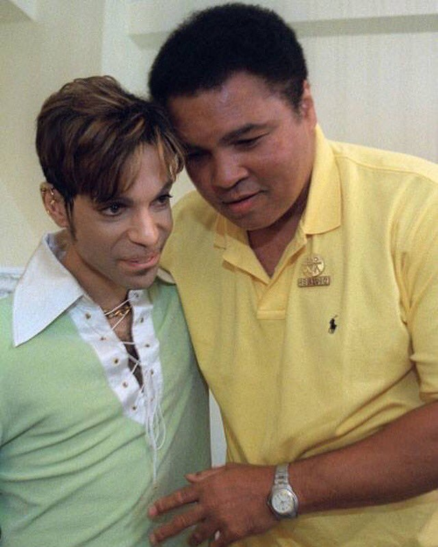 Prince and Muhammad Ali share a moment as friends