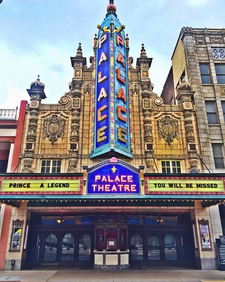 The Louisville Palace honors Prince. (Source: The Louisville Palace Facebook page.)
