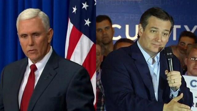 Indiana Governor Mike Pence and Senator Ted Cruz