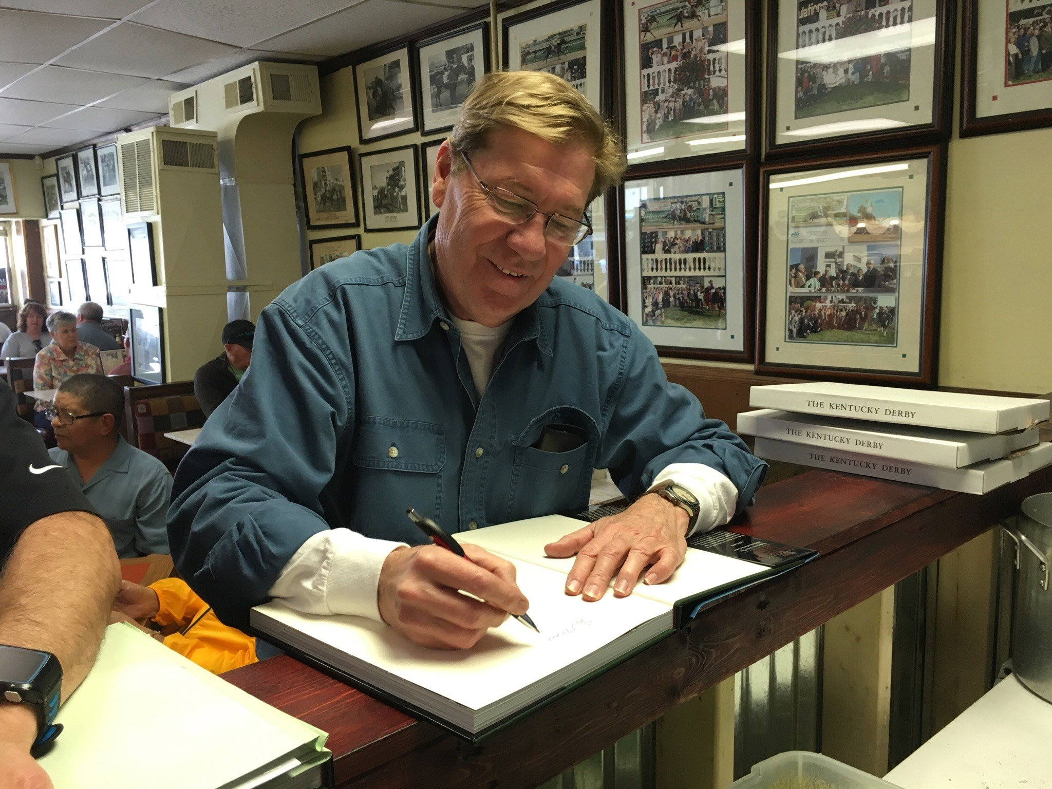 racing historian Bill Doolittle will be signing copies of his new book The Kentucky Derby, the first tech-engaged book written about the world's greatest race (Photo by Toni Konz, WDRB News)
