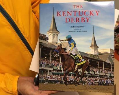 Bill Doolittle's new Kentucky Derby book (Photo by Toni Konz, WDRB)