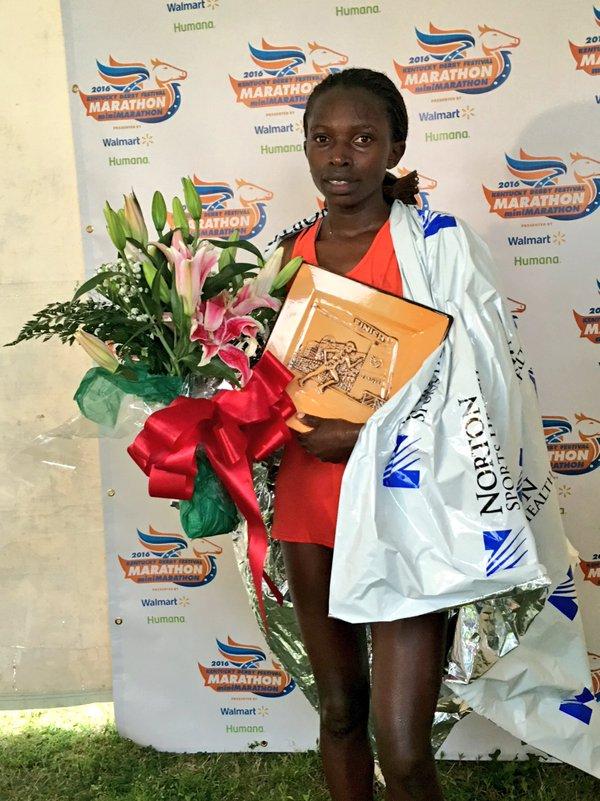 Grace Wambui Nganga (Image Source: KDF Marathon/miniMarathon Twitter account)