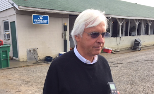 Bob Baffert will visit American Pharoah for the first time in almost six months on Monday.