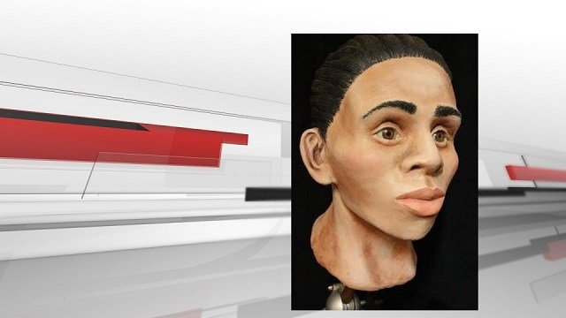 A recreation of the woman's skull. (Image Source: Kentucky State Police)