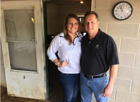 Ashley Amnoss and her dad, Tom Amoss (Photo by Toni Konz, WDRB News)