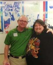 David Cummings, the former principal at Wilkerson, and Jenny Pruett (submitted photo)
