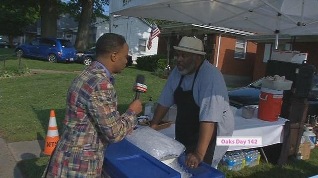Darrell Blackburn rented a space from a homeowner near Churchill Downs so he could set up shop with his catering business.