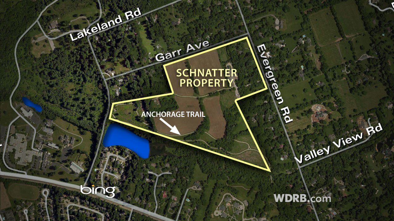 Some of Schnatter's property in Anchorage (WDRB graphic)