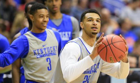 Tyler Ulis (left) and Jamal Murray are two of the four UK players who will participate in the NBA Draft combine in Chicago.