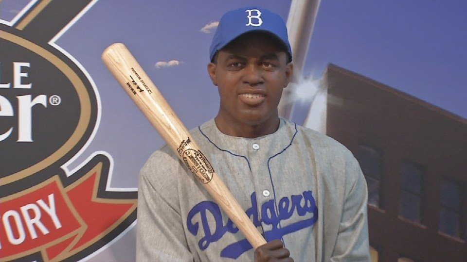 As the first African-American major league playr in the 20th Century, Jackie Robinson broke the color barrier in the big leagues.