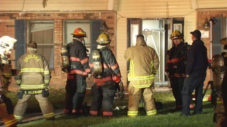 The Red Cross is assisting 25 people displaced by fire at the Derby Estates Apartments.