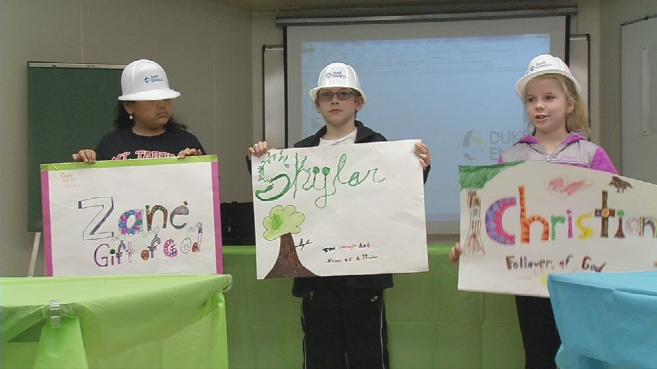 Students at Mt. Tabor Elementary School in New Albany got to name three baby Peregrine falcons.
