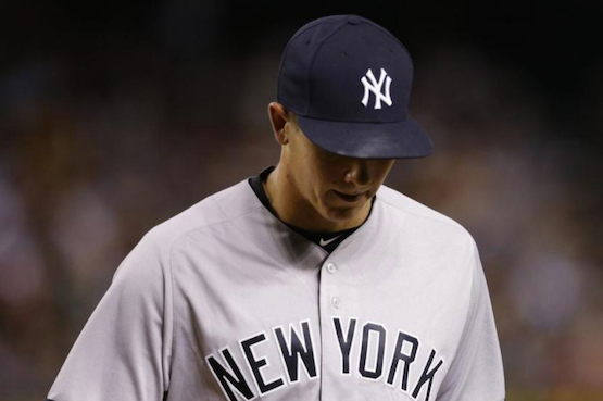Former U of L ace Chad Green exited after making his major league debut with the Yankees Monday night. (AP photo.)