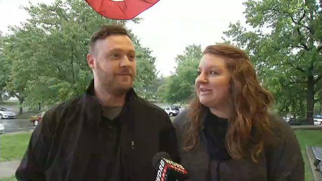 Adam and Adrianne Kilchenman said they plan to vote for Bernie Sanders.